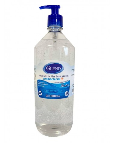 Alcohol en Gel Antibacterial Glend - 1000 ml