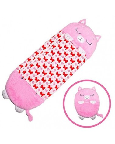 HAPPY SLEEPING BAG PARA NIÑOS - GATITA ROSA